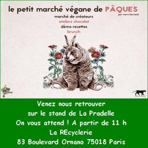 Dimanche 2 avril à partir de 11 h à la ReCyclerie (83 Bd d'Ornano Paris 18e) - Petit Marché Vegan de Pâques